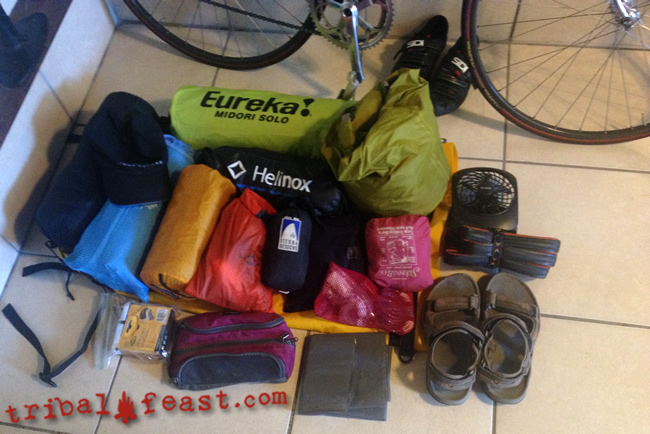 What's in my pack? Everything I crammed into my Sealine bag for the Bike Ride Across Georgia