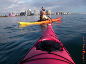 Sea Kayaking in Sarasota Bay, Sarasota, Florida.