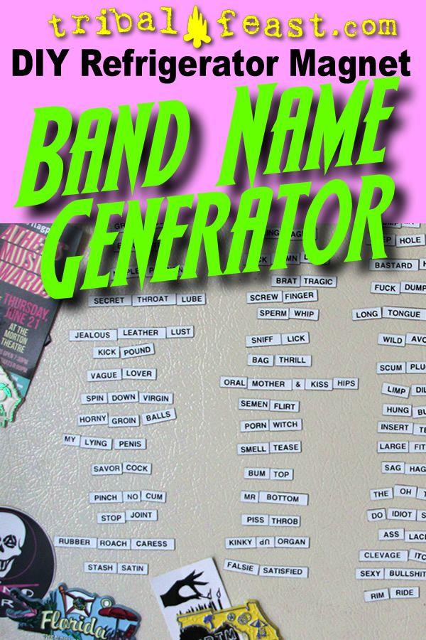 DIY Refrigerator Magnet Band Name Generator - Magnetic Poetry Kits