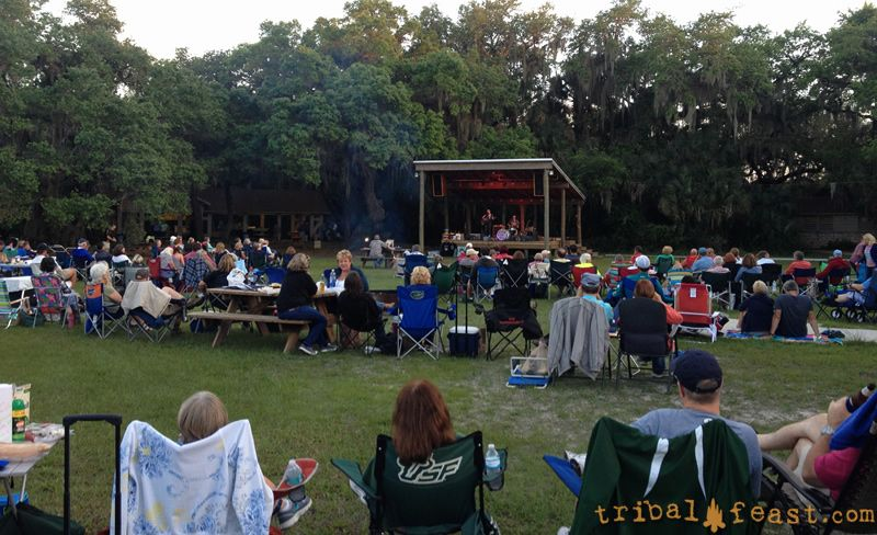 Hymn For Her playing at the Moon Over Myakka outdoor concert series.