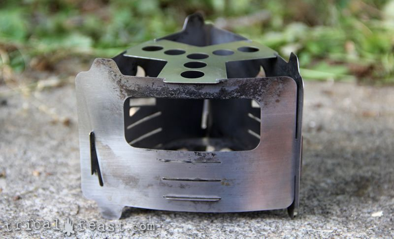The Bushcraft Essential Bushpox Ultralight Pocket Stove is a true, ultra-light, multifuel backpacking stove