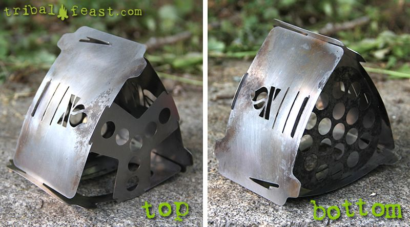 Top and bottom views of the Bushbox Ultralight Twig Stove