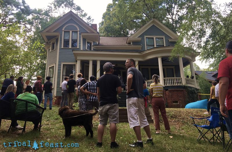 Older homes with large front porches make the perfect stage for a porchfest show.