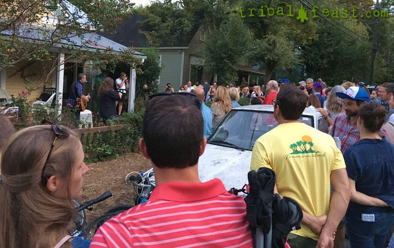 The community-focused, street party atmosphere of porchfest shows can be exhilarating.